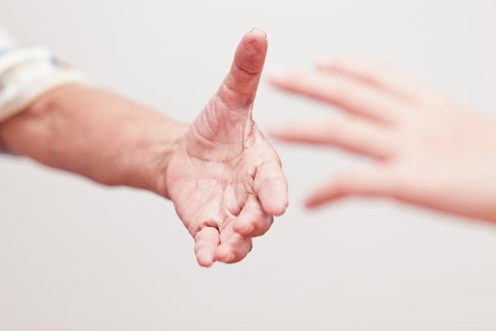 reaching-hands