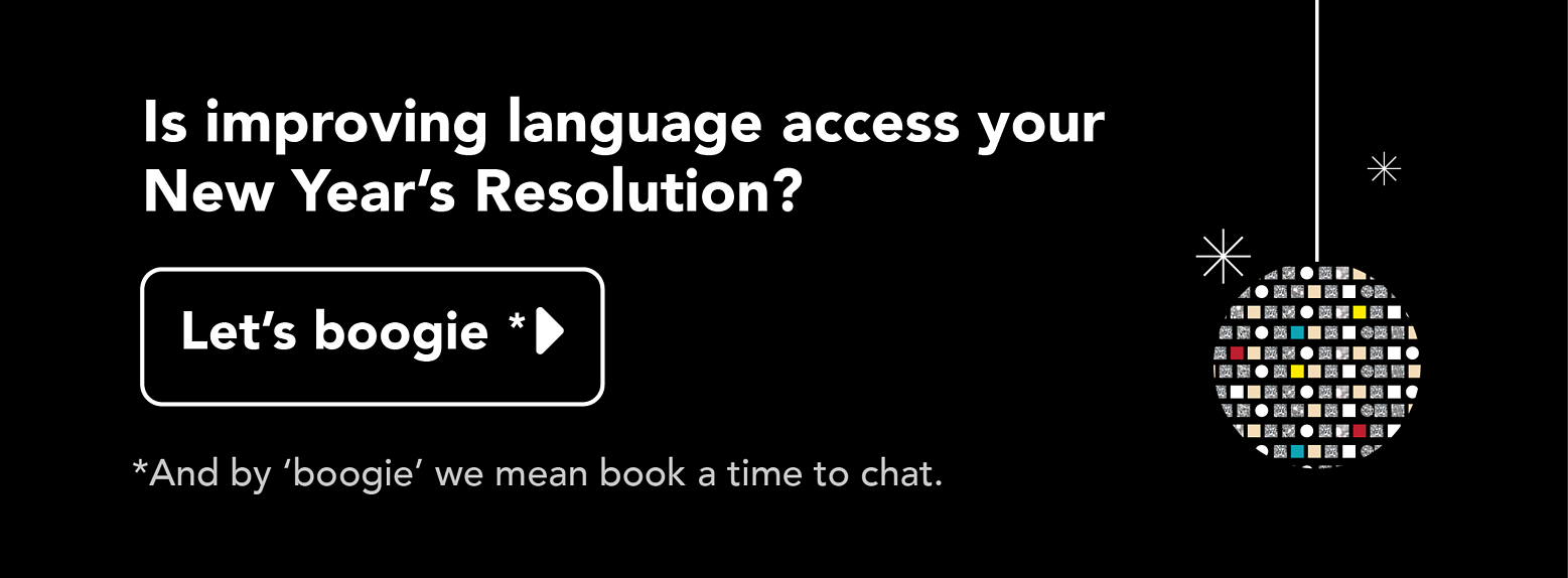 Want to iprove language access? Click me!