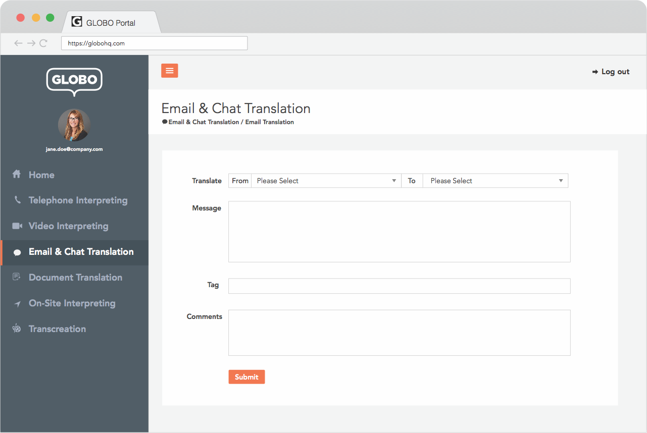 Email-And-Chat-Translation